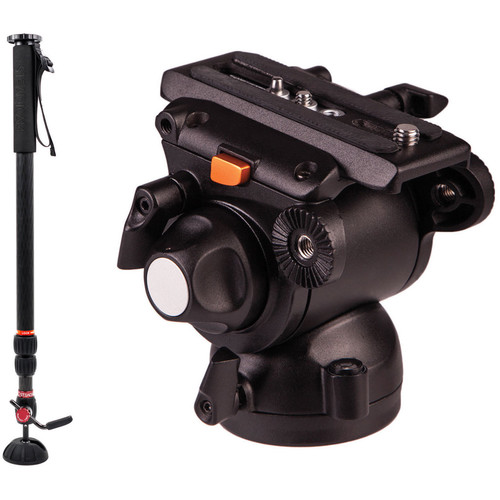 Steadicam Steadicam Air 15 Monopod and E-Image GH03 Fluid Head with Flat Base Kit