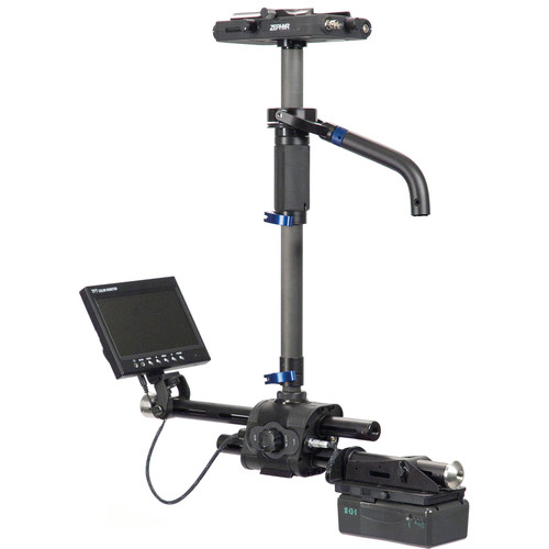 """Steadicam Zephyr Camera Stabilizer with 7"""" HD Monitor, Compact Vest & Gold Mount Plate"""