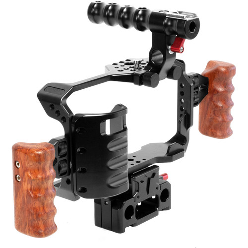 Steady Arm Cage Kit with Wooden Handles for Blackmagic Pocket Cinema Camera II 4K