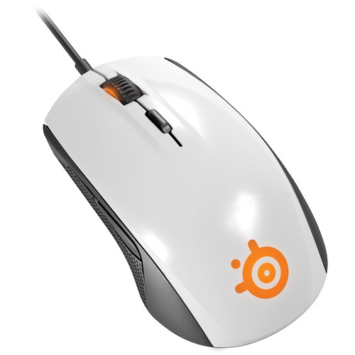 SteelSeries Rival 100 Optical Gaming Mouse (White)