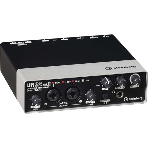 Steinberg UR22mkII - USB 2.0 Audio Interface with Dual Microphone Preamps