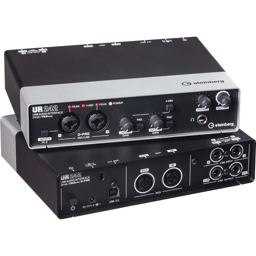 Steinberg UR242 - USB 2.0 Audio Interface with Dual Microphone Preamps and iPad Connectivity