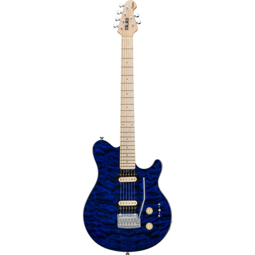Sterling by Music Man Axis AX3 Sub Series Electric Guitar (Transparent Blue)