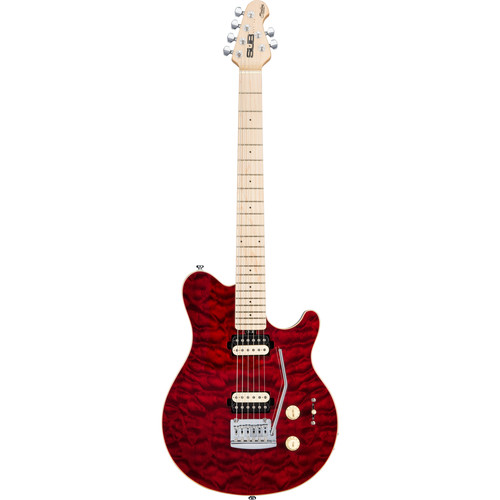 Sterling by Music Man Axis AX3 Sub Series Electric Guitar (Transparent Red)