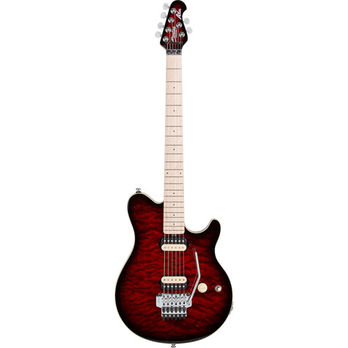 Sterling by Music Man AX40D Electric Guitar (Ruby Red Burst)