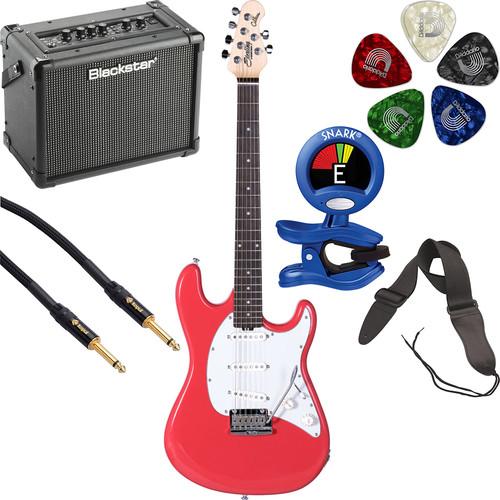 Sterling by Music Man CT50 Cutlass Series Electric Guitar & Amplifier Starter Kit (Fiesta Red)