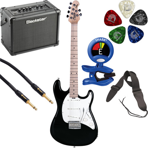 Sterling by Music Man CT50 Cutlass Series Electric Guitar & Amplifier Starter Kit (Black)