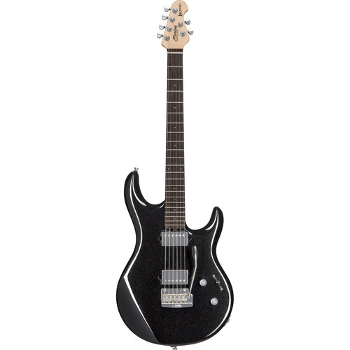 Sterling by Music Man LK100D Steve Lukather Signature Series Electric Guitar (Black Metallic)
