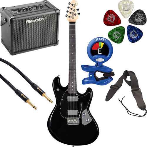 Sterling by Music Man StingRay SR50 Electric Guitar and Amplifier Starter Kit (Black)