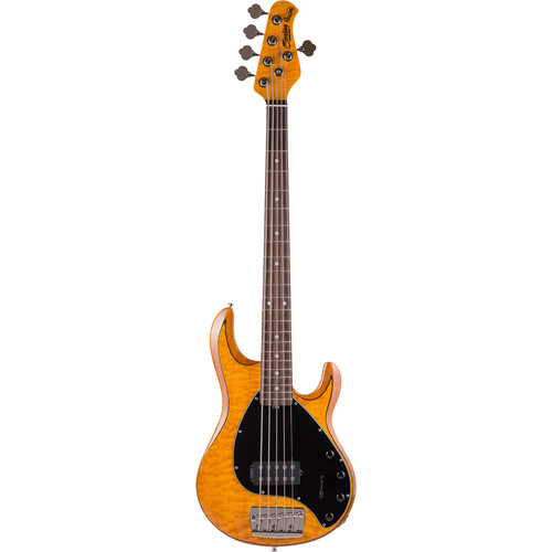Sterling by Music Man Ray35QM 5-String Electric Bass (Quilted Antique Maple)