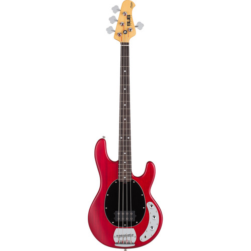 Sterling by Music Man S.U.B. Ray4 Electric Bass (Transparent Red Satin)