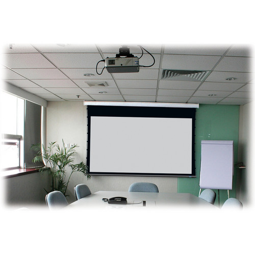 "Stewart Filmscreen Cima 100"" 16:9 HDTV Format Below Ceiling Projection Screen (White)"