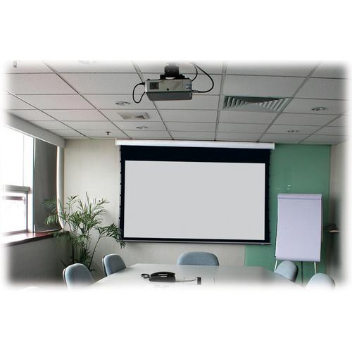 """Stewart Filmscreen Cima 130"""" 16:10 Presentation Format Below Ceiling Projection Screen (White)"""