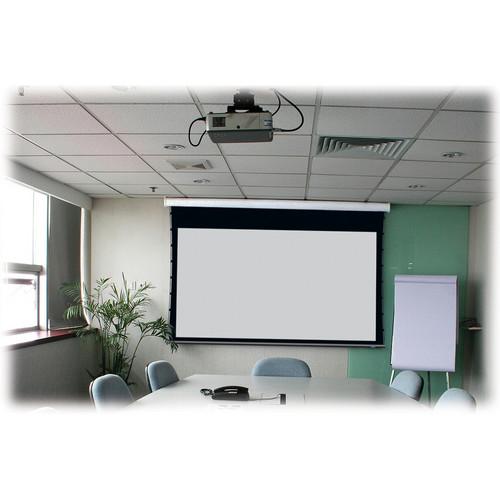 """Stewart Filmscreen Cima 130"""" 16:10 Presentation Format Below Ceiling Projection Screen (Gray)"""