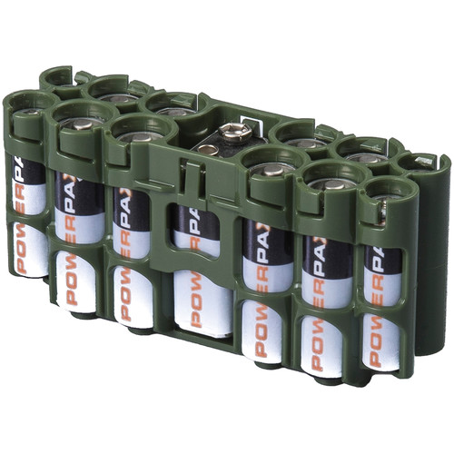 STORACELL A9 Pack Battery Caddy (Military Green)