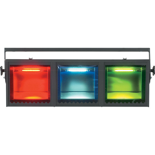 Strand Lighting Aurora Cyc 3-Way Linear Batten Luminaire (120 VAC, Black)