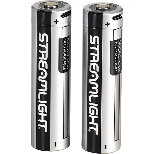 Streamlight 18650 USB Rechargeable Lithium-Ion Batteries (3.7V, 2600mAh, 2-Pack)