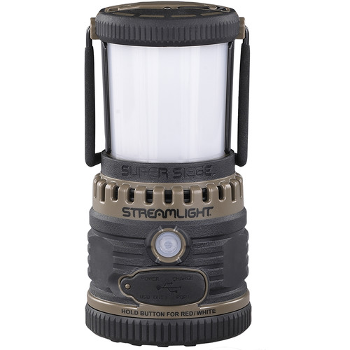 Streamlight Super Siege Lantern with Portable USB Charger (120 VAC, Coyote)
