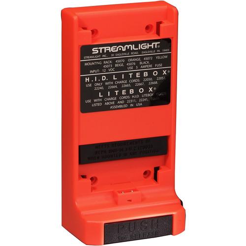 Streamlight 12 VDC Direct Wire Vehicle Mount Rack for LiteBox, FireBox, and HID LiteBox (Orange)