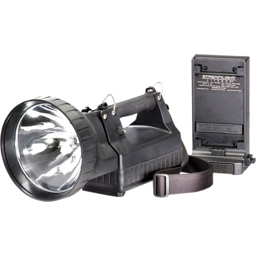 Streamlight HID Litebox Lantern with VMS 12V DC Flood Lens, DC Power Cord, Strap and Direct Wire Rack (Black)