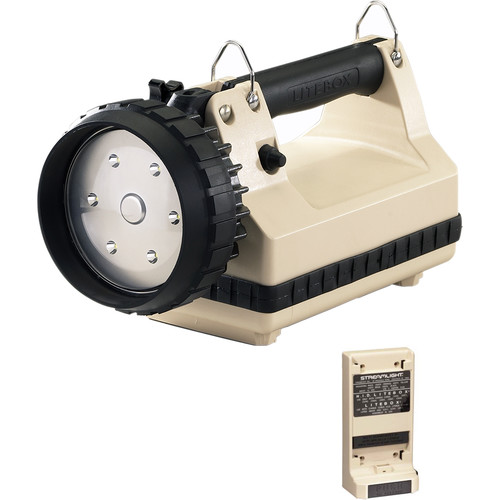 Streamlight E-Flood LiteBox Power Failure System with AC/DC Charger (120V, Beige)