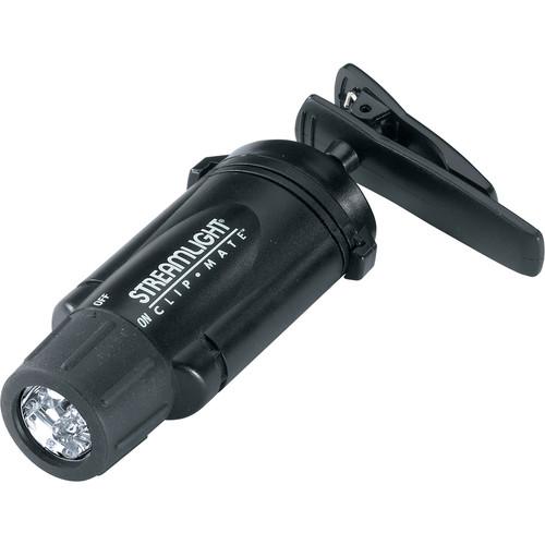 Streamlight ClipMate Black LED Clip Light (Black, Clamshell Packaging)