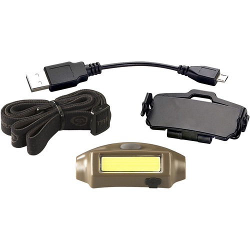 Streamlight Bandit Rechargeable LED Headlamp with Secondary Red Light (Coyote, Clamshell Packaging)
