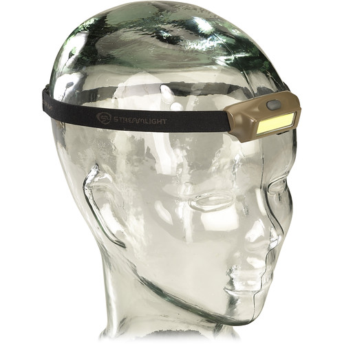 Streamlight Bandit Rechargeable LED Headlamp with Secondary Green Light (Coyote, Clamshell Packaging)