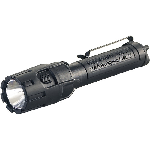 Streamlight Dualie 2AA Flashlight (Black, Clamshell Packaging)