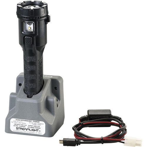Streamlight Dualie Rechargeable Flashlight with Direct-Wire Car Charger (Black)