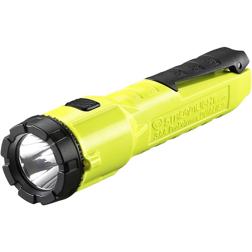 Streamlight Dualie 3AA Flashlight with Integrated Clip (AA Batteries) (Yellow,Clamshell Packaging)