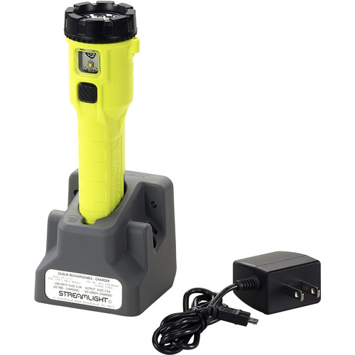 Streamlight Dualie Magnet Rechargeable Flashlight with Direct-Wire Car Charger (Yellow)