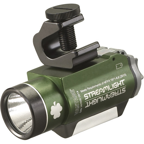 Streamlight Vantage Helmet Light with Green Taillight (Green)