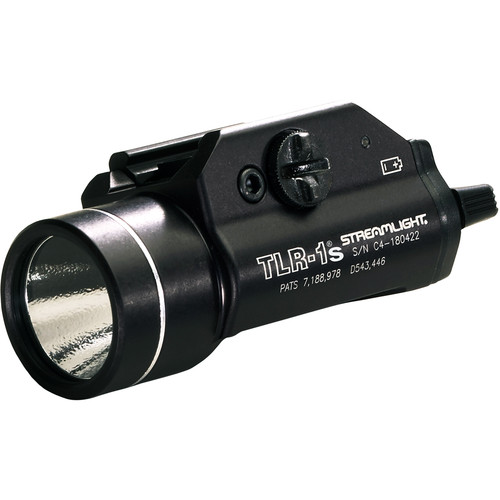 Streamlight TLR-1S Rail Mounted Flashlight with Earless Screw and Rail Locating Keys (Boxed, Black)