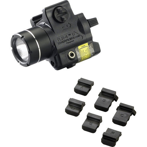 Streamlight TLR-4G Compact Rail Mounted Tactical Light with Green Laser and Wide Operating Range (Box, Black)