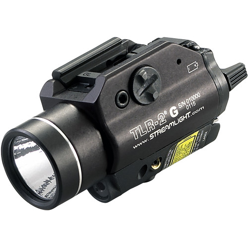 Streamlight TLR-2 G Rail-Mounted Flashlight with Green Laser (Boxed, Black)