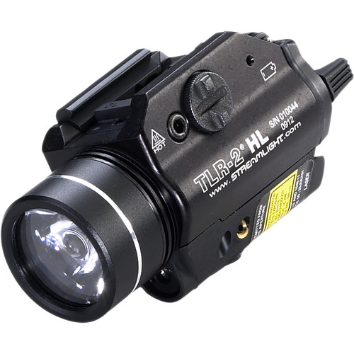 Streamlight TLR-2 HL High Lumen Rail Mounted Flashlight with Red Laser (Boxed, Black)