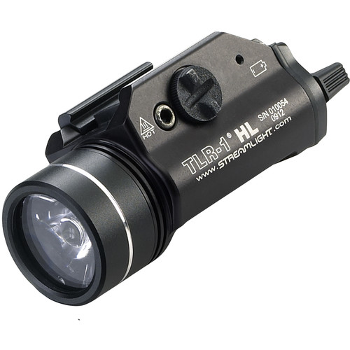 Streamlight TLR-1 HL Rail-Mounted Weapon Flashlight with Earless Screw Kit (Black)