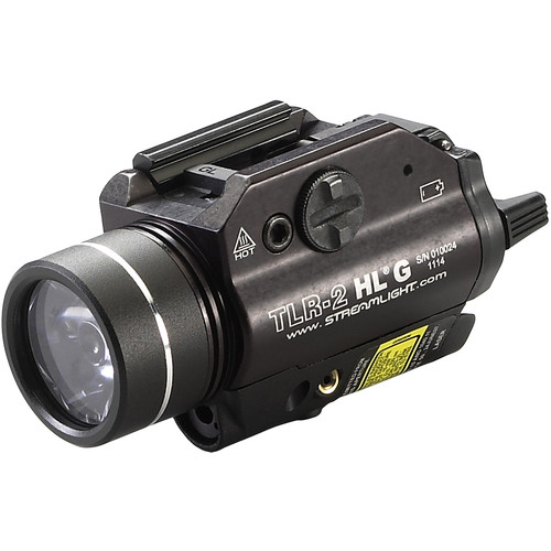 Streamlight TLR-2 HL G High-Lumen Rail-Mounted Strobing Tactical Light with Green Laser (Boxed)