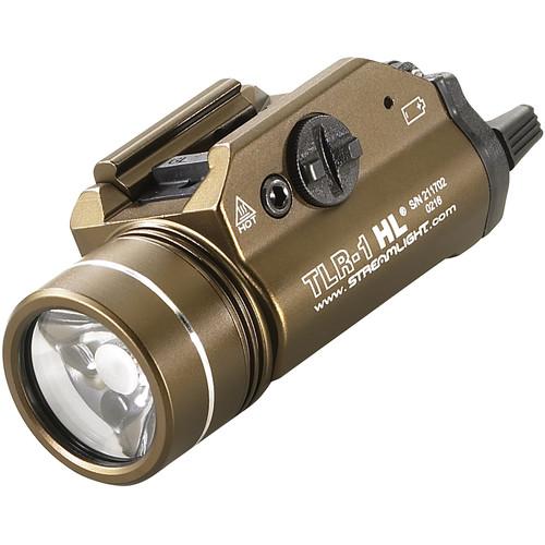 Streamlight TLR-1 HL High Lumen Rail-Mounted Flashlight with Rail Locating Keys (Boxed, Flat Dark Earth Brown)