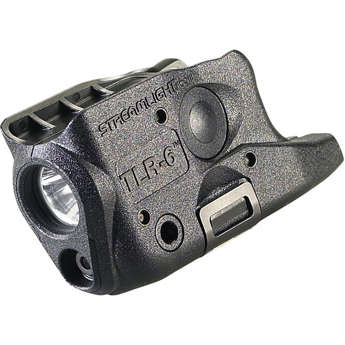 Streamlight TLR-6 Gun-Mounted Tactical Light with Red Aiming Laser for Glock 26/27/33 (Black)