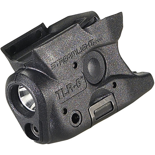 Streamlight TLR-6 Gun-Mounted Tactical Light with Red Aiming Laser for M&P Shield 40/9 (Black)
