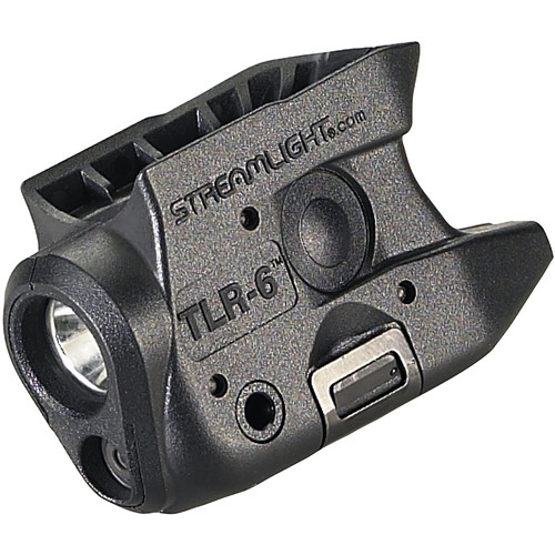 Streamlight TLR-6 Gun-Mounted Tactical Light with Red Aiming Laser for Select Kahr Handguns (Black)