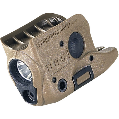 Streamlight TLR-6 Gun-Mounted Tactical Light with Red Aiming Laser (Glock 42/43, Flat Dark Earth Brown)