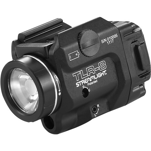 Streamlight TLR-8 Low-Profile, Rail-Mounted Tactical Light with Red Aiming Laser
