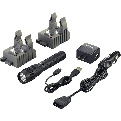 Streamlight Strion DS HL Rechargeable LED Flashlight (Two 120/100 VAC / 12 VDC Charger Brackets)