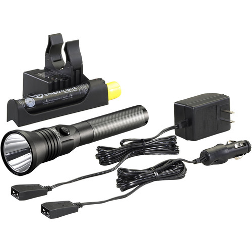 """Streamlight Stinger HPL Rechargeable Flashlight with AC/DC """"Piggyback"""" Smart Charger"""