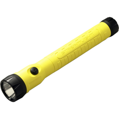 Streamlight PolyStinger Haz-Lo Rechargeable LED Flashlight with 12 VDC Smart Charger (Yellow)