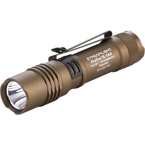 Streamlight Protac 1L-1AA LED Flashlight (Coyote, Clamshell Packaging)