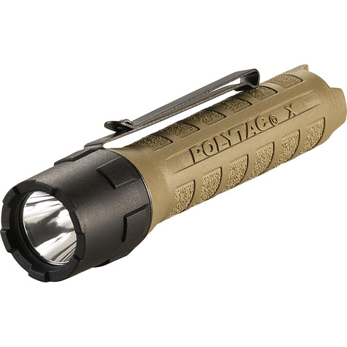Streamlight Polytac X Multifuel Tactical Flashlight with Two CR123A Batteries (Coyote(Clamshell Packaging))